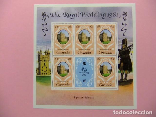 Sellos: GRENADA 1981 Mariage Royal du Prince Charles et lady Diana Spencer Yvert 979 / 981 ** MNH x 5 - Foto 2 - 186447320