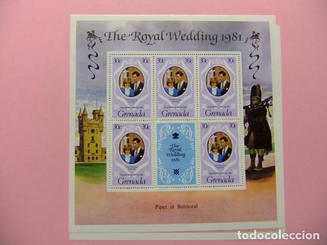 Sellos: GRENADA 1981 Mariage Royal du Prince Charles et lady Diana Spencer Yvert 979 / 981 ** MNH x 5 - Foto 3 - 186447320