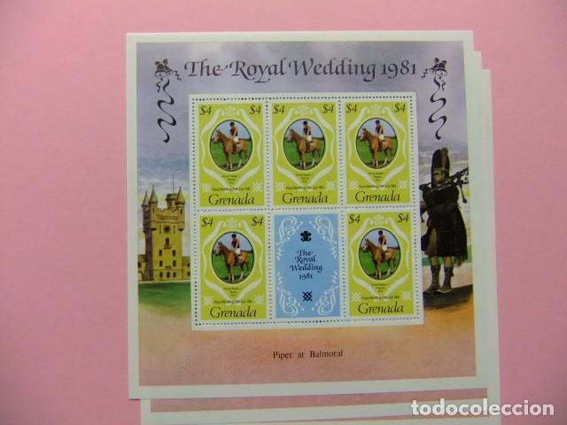 Sellos: GRENADA 1981 Mariage Royal du Prince Charles et lady Diana Spencer Yvert 979 / 981 ** MNH x 5 - Foto 4 - 186447320