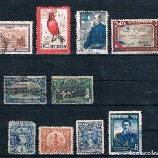Sellos: LOTE SELLOS USADOS DE URUGUAY PANAMÁ Y GUATEMALA. Lote 187121603