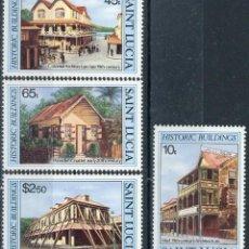 Sellos: SANTA LUCIA 1984 IVERT 630/3 *** EDIFICIOS HISTÓRICOS - MONUMENTOS. Lote 187604367