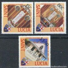Sellos: SANTA LUCIA 1988 IVERT 898/900 *** CENTENARIO DE LA IGLESIA METODISTA EN SANTA LUCIA. Lote 187605051