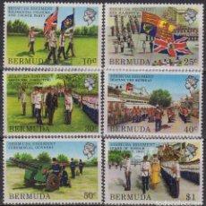 Sellos: BERMUDA 1980 IVERT 413/18 * REGIMIENTO DE LAS BERMUDAS - MILITARES. Lote 189750576