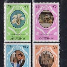 Sellos: JAMAICA 1981 IVERT 512/15 *** BODA REAL DEL PRINCIPE CARLOS Y LADY DIANA SPENCER (I). Lote 189925520