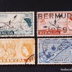 Sellos: BERMUDAS, 1953-58 YVERT 141, 141A,142, 143 FAUNA AVES. Lote 191339067