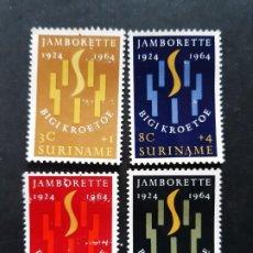 Sellos: SURINAM, 1964, YVERT 396-99 (*). Lote 191579013