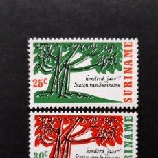 Sellos: SURINAM, 1966, YVERT 441-42 **. Lote 191579190