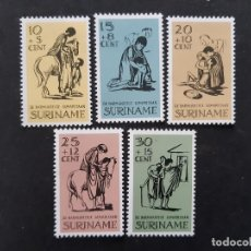 Sellos: SURINAM, 1967, YVERT 452-56 **. Lote 191579442