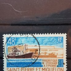 Sellos: ST. PIERRE Y MIQUELON_ SELLO USADO_ FRIGORIFICO STOCKAGE_ YT- PM 406 AÑO 1970. Lote 191760367