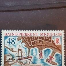 Sellos: ST. PIERRE Y MIQUELON_ SELLO USADO_ NEW PORT_ YT- PM 378 AÑO 1967. Lote 191760778