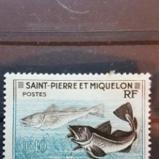 Sellos: ST. PIERRE Y MIQUELON_ SELLO USADO_ GADUS MORRHUA_ YT- PM 353 AÑO 1957. Lote 191761088