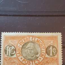Sellos: ST. PIERRE Y MIQUELON_ SELLO USADO_ PESCADOR_ YT- PM 78 AÑO 1909. Lote 191761447