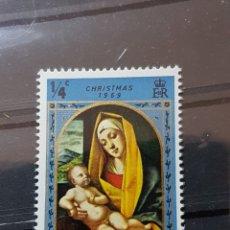 Sellos: ISLAS CAIMAN_ SELLO NUEVO_ LA VIRGEN Y EL NIÑO_ YT-KY244 AÑO 1969 LOTE 383. Lote 191785888