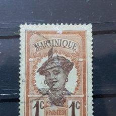 Sellos: MARTINICA_ SELLO USADO_ MOTIVOS LOCALES_ YT-FR-MAR61 AÑO 1908 LOTE 413. Lote 191788801