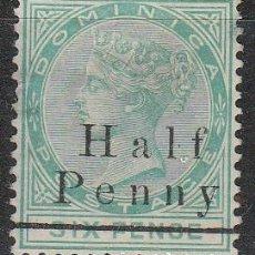 Sellos: DOMINICA Nº 22 (AÑO 1886), REINA VICTORIA DE INGLATERRA ,NUEVO SIN GOMA. Lote 191907598