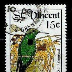 Sellos: SAN VICENTE Y LAS GRANADINAS SCOTT: 1645-(1992) (COLIBRÍES, GENOVA '92; ESMERALDA ESPAÑOLA) USADO. Lote 191994312