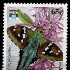 Sellos: SAN VICENTE Y LAS GRANADINAS SCOTT: 1664-(1992) (MARIPOSAS, GÉNOVA'92: PATRÓN DE COLA LARGA) USADO. Lote 191995017