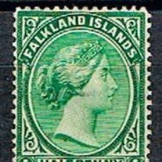 Sellos: ISLAS MALVINAS Nº 8 (AÑO 1891), REINA VICTORIA DE INGLATERRA, NUEVO CON SEÑAL DE CHARNELA. Lote 192082307