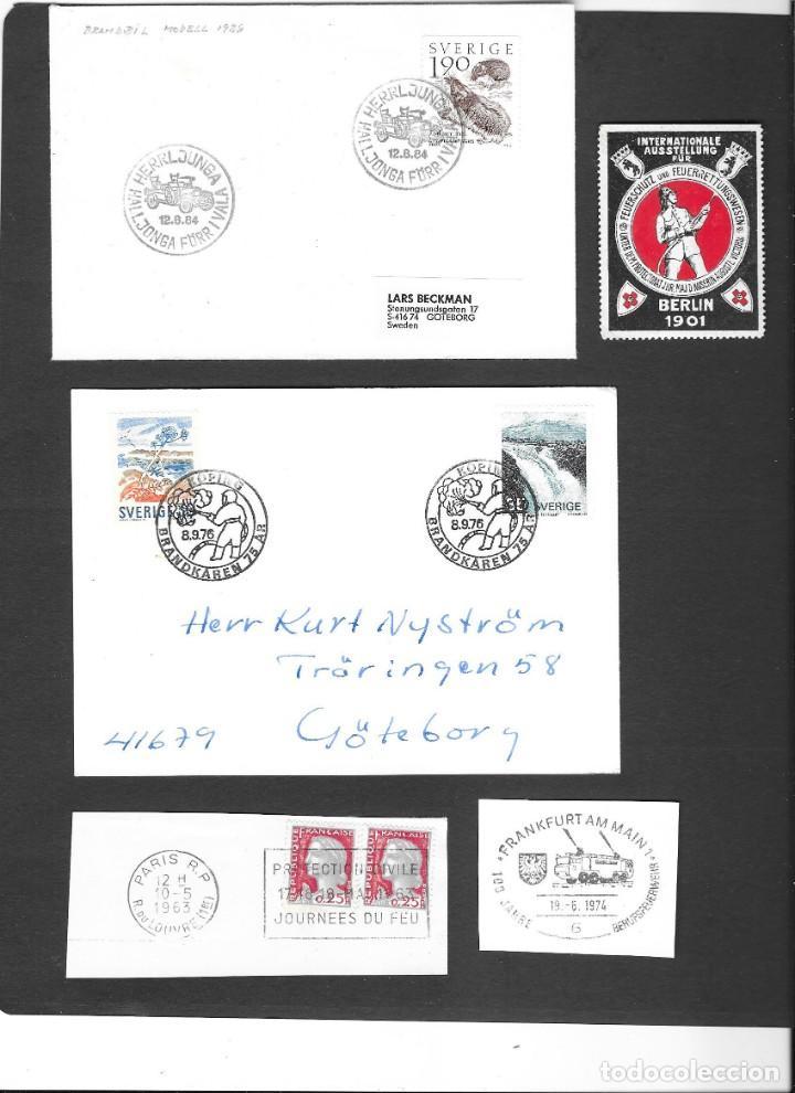 BOMBEROS 12 PIEZAS DE HISTORIA POSTAL, 3 FRAGMENTOS Y UNA VIÑETA DE 1901 (Sellos - Temáticas - Varias)