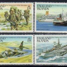 Sellos: FALKLAND 1983 IVERT 391/94 *** 1º ANIVERSARIO DE LA LIBERACIÓN DE LAS ISLAS - BARCOS. Lote 193732828
