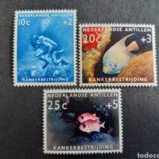 Sellos: ANTILLAS HOLANDESAS 1960 YVERT 301-03** PECES FAUNA. Lote 194007923