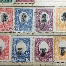 Sellos: 30 SELLOS HAITI 1904-1920 (ERROR DE IMPRESIÓN). Lote 194183061