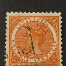 Sellos: CURAÇAO, YVERT 40 DEFECTO, ADELGAZADO. Lote 194233313