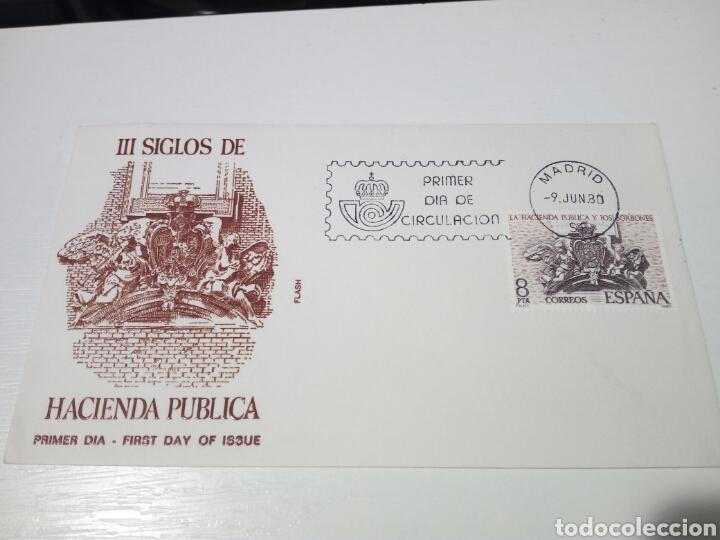 ANTIGUO SOBRE CON SELLO, III SIGLOS DE HACIENDA PUBLICA. 1°DIA DE CIRCULACION. . (Sellos - Temáticas - Varias)