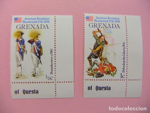 GRENADE GRENADA 1976 SOLDADOS - 200 INDEPENDENCIA DE LOS ESTADOS UNIDOS YVERT 667+ 668 ** MNH (Sellos - Extranjero - América - Otros paises)