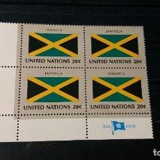 Sellos: SELLO NUEVO NACIONES UNIDAS. OFICINA N. YORK. JAMAICA. 23 SEPTIEMBRE 1983. YVERT 396.. Lote 194393655