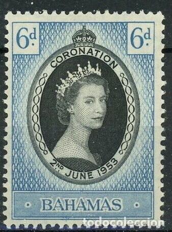 BAHAMAS 1953 IVERT 146 * CONMEMORACIÓN DE LA CORONACIÓN DE ISABEL II (Sellos - Extranjero - América - Otros paises)