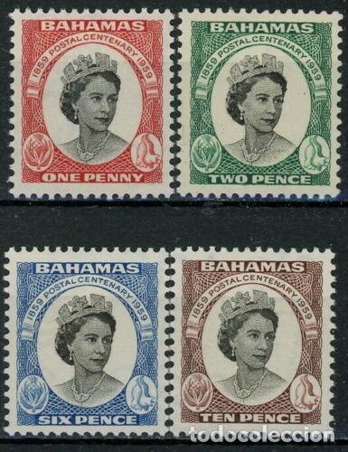 BAHAMAS 1959 IVERT 163/66 *** CENTENARIO DEL SELLO DE BAHAMAS - ISABEL II (Sellos - Extranjero - América - Otros paises)