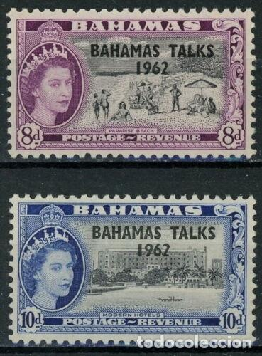 BAHAMAS 1963 IVERT 170/71 *** CONFERENCIA DE NASSAU - ISABEL II (Sellos - Extranjero - América - Otros paises)