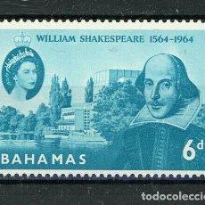 Sellos: BAHAMAS 1964 IVERT 190 *** 4º CENTENARIO DEL NACIMIENTO DE WILLIAN SHAKESPEARE. Lote 194507682