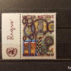 Sellos: NUEVO NACIONES UNIDAS. OFICINA N. YORK. ANIVº D. DERECHOS HUMANOS. 9 DICIEMBRE 1983. YVERT 407.. Lote 194519918