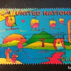 Sellos: SELLO USADO NACIONES UNIDAS. OFICINA N. YORK. CUMBRE SOBRE EL PLANETA. 30 MAYO 1997. YVERT 725.. Lote 194659217