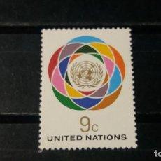 Sellos: SELLO NUEVO NACIONES UNIDAS. OFICINA N. YORK. LOGO ONU. 19 NOVIEMBRE 1976. YVERT 271.. Lote 194732645