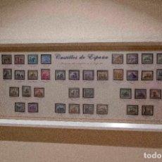 Sellos: CUADRO CON 6 EMISIONES DE SELLOS DE ESPAÑA DE CASTILLOS. Lote 194733001