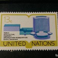Sellos: SELLO NUEVO NACIONES UNIDAS. OFICINA N. YORK. SEDE GINEBRA. 11 MARZO 1977. YVERT 273.. Lote 194745778
