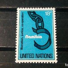 Sellos: SELLO NUEVO NACIONES UNIDAS. OFICINA N. YORK. SOLIDARIDAD CON NAMIBIA. 5 MAYO 1978. YVERT 289.. Lote 194750823