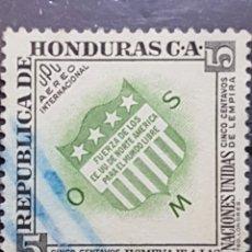 Sellos: HONDURAA_SELLO USADO_NACIONES UNIDAS EEUU FUERZA_MI-HN 496 AÑO 1953 LOTE 8167. Lote 194777201