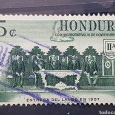 Sellos: HONDURAS_SELLO USADO_RESOLUCION CONFLICTO NICARAGUA_YT-HN PA288 AÑO 1961 LOTE 8174. Lote 194777701