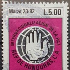 Sellos: HONDURAS_SELLO USADO_SIMBOLO PAZ 5L_MI-HN 1016 AÑO 1984 LOTE 8181. Lote 194778390