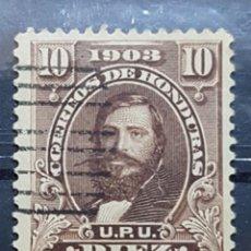 Sellos: HONDURAS_SELLO USADO_GENERAL SANTOS GUARDIOLA 10C_MI-HN 97I AÑO 1903 LOTE 8204. Lote 194779218