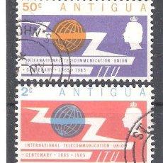 Sellos: ANTIGUA Nº 144/145º CENTENARIO DE LA UIT. SERIE COMPLETA. Lote 194886031