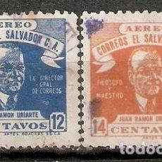 Sellos: EL SALVADOR.1946. CORREO AÉREO A 82/83. Lote 194963236