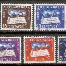 Sellos: EL SALVADOR.1952. CORREO AÉREO A 116/119, A121,A123. Lote 194966645