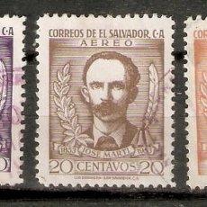 Sellos: EL SALVADOR.1953. CORREO AÉREO A 125/127. Lote 194966738