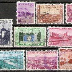 Sellos: EL SALVADOR.1954. CORREO AÉREO A 133,134,136 + A137/146. Lote 194967748