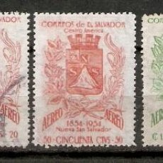 Sellos: EL SALVADOR.1957. CORREO AÉREO A 161/165. Lote 194968731